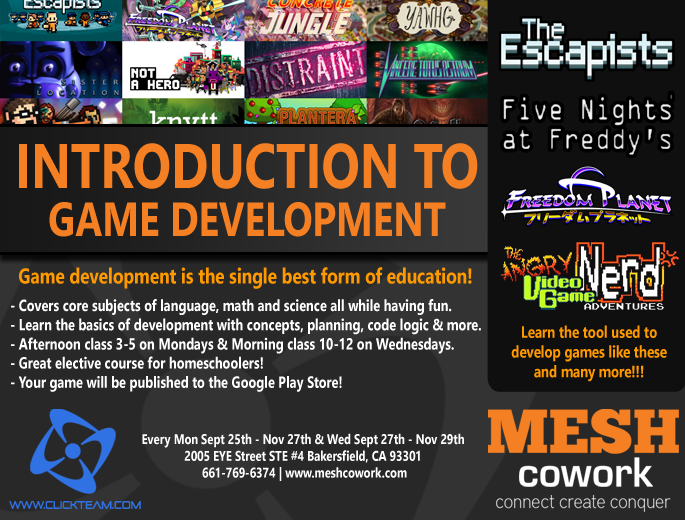 Mesh Cowork - Introduction to Programming & Game Development